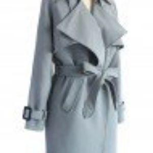 Chicwish Grey Trench Coat in Size Medium